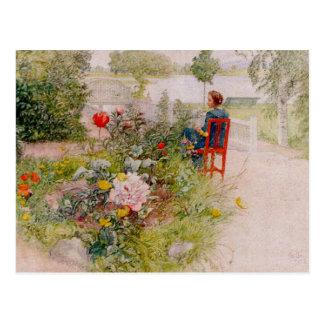 Lisbeth in de Tuin van de Bloem Briefkaart