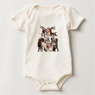 Literaire Gedroomde Schrijvers uit de klassieke Baby Shirt