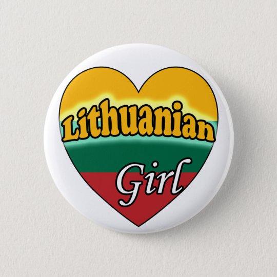 Lithuanian Girl Ronde Button 5,7 Cm