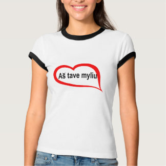 Litouwse I houdt van u T Shirt