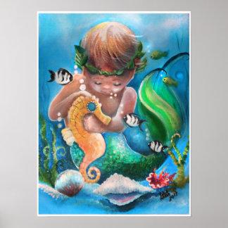 Little Boy Merm en zijn zeepaardje Poster