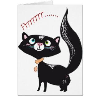 LittlePixyBoots - *Blacky* de Kat van het Kat Briefkaarten 0