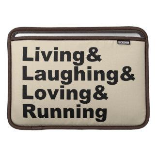 Living&Laughing&Loving&RUNNING (blk) MacBook Beschermhoes