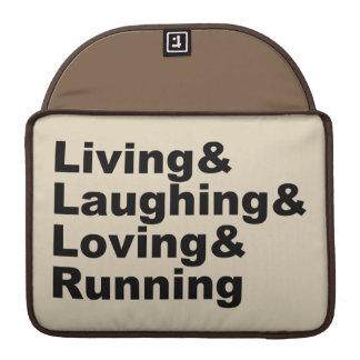 Living&Laughing&Loving&RUNNING (blk) Sleeve Voor MacBooks