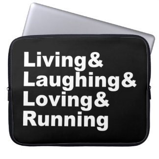 Living&Laughing&Loving&RUNNING (wht) Laptop Sleeve
