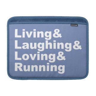 Living&Laughing&Loving&RUNNING (wht) MacBook Air Sleeve