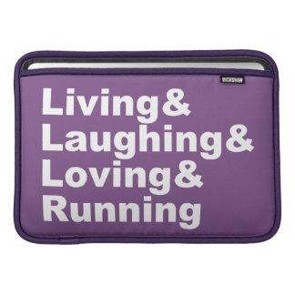 Living&Laughing&Loving&RUNNING (wht) MacBook Beschermhoes