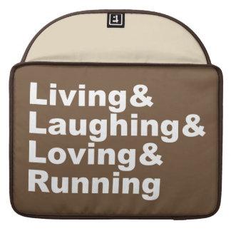 Living&Laughing&Loving&RUNNING (wht) MacBook Pro Beschermhoes
