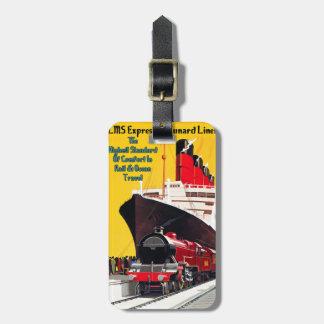 LMS drukken & de Voering Cunard uit Kofferlabel