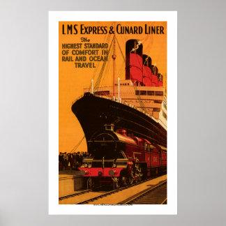 LMS - drukken & het Poster van de Voering Cunard u