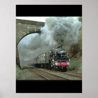 LMS Klasse 5 ontploffingen langs de Treinen Poster