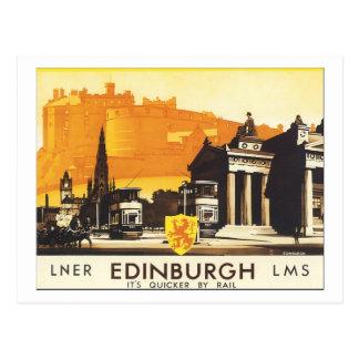 LNER Edinburgh LMS het is Sneller per Spoor Briefkaart