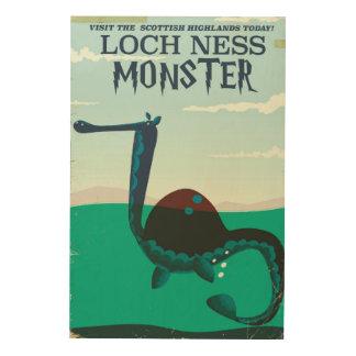 Loch grappig de reisposter van het Monster van Hout Afdruk