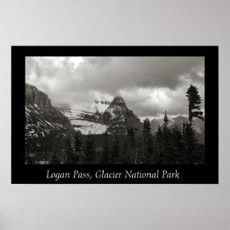 Logan Pas, het Nationale Park van de Gletsjer Poster