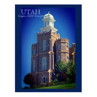 Logan, Utah LDS Tempel Briefkaart