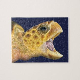 Loggerhead de Schildpad van het Zee met het Legpuzzel