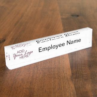 logo/het bord van het naambureau naambord