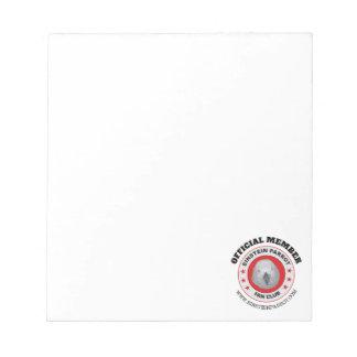 Logo van de Club van de Ventilator van de Papegaai Notitieblok