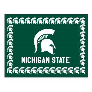 Logo van de Helm van de Universiteit van de Staat Briefkaart