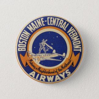Logo van de Luchtroutes van Boston het Ronde Button 5,7 Cm