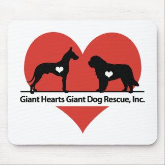 Logo van de Redding van de Hond van reuzeHarten Muismat