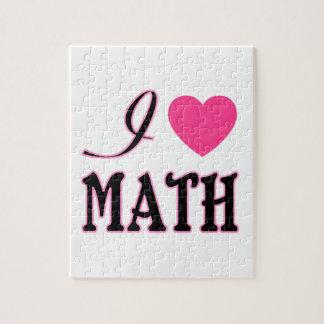 Logo van het Hart van de Wiskunde van de liefde he Puzzel