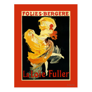 Loie Vollediger bij het Theater folies-Bergere Briefkaart