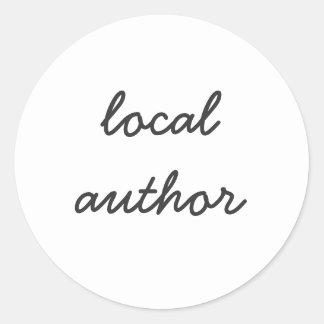 lokale auteur ronde sticker