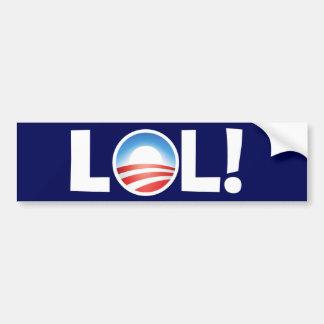 LOL in Obama - Luid Lachen uit in Obama Bumpersticker