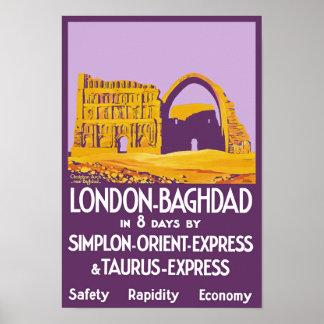 Londen - Bagdad oriënteert Uitdrukkelijk Poster