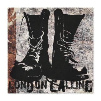 """""""Londen die Laarzen roepen"""" het Digitale Art. van Gallerij Wrap Canvas"""