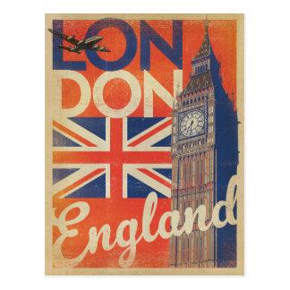 Londen, Engeland - Vlag Briefkaart