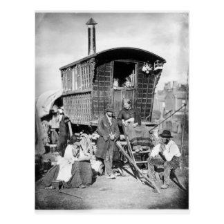 Londen Nomades, c.1876 Briefkaart