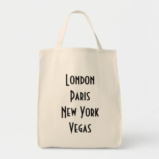 Londen Parijs New York Vegas Draagtas
