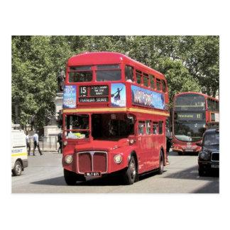 Londen, Rode doubledecker bus op het gebied van Briefkaart