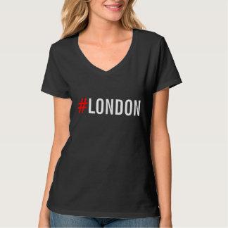 #London de Bovenkant van de Dames van Hashtag T Shirt