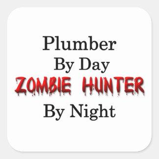 Loodgieter/de Jager van de Zombie Vierkante Sticker