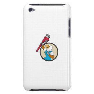 Loodgieter Eagle dat op de Cirkel Cartoo opheft iPod Touch Hoesje