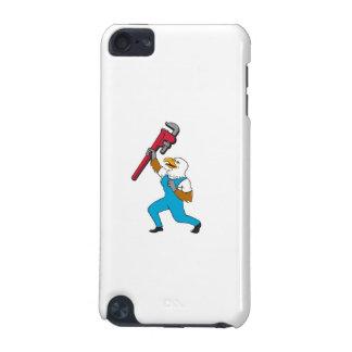 Loodgieter Eagle die de Cartoon van de Moersleutel iPod Touch 5G Hoesje