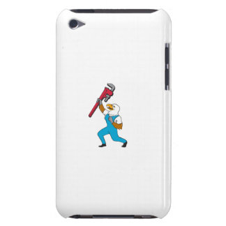 Loodgieter Eagle die de Cartoon van de Moersleutel iPod Touch Hoesje