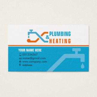 Loodgieterswerk en het verwarmen. Visitekaartje Visitekaartjes