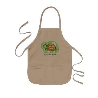 Loodje de Illustratie van de Schildpad Kinder Schort