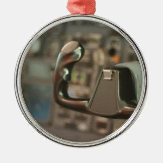 Loodsen Zilverkleurig Rond Ornament