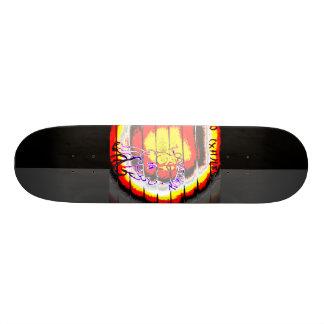 LooneySkull- Grunge: Umber Skateboard