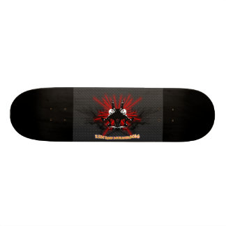 LooneySkullRUD: Uni-schedel 18,1 Cm Old School Skateboard Deck