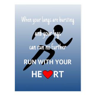 Looppas met uw hart motivatie sporten briefkaart