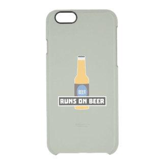 Looppas op Bier Z7ta2 Doorzichtig iPhone 6/6S Hoesje
