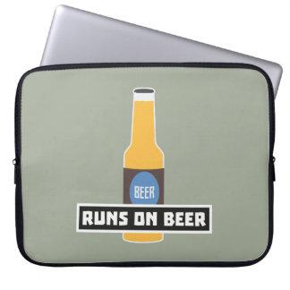 Looppas op Bier Z7ta2 Laptop Sleeve
