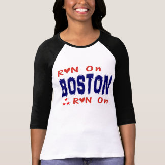 Looppas op de t-shirt van Boston