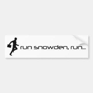 Looppas Snowden, de Sticker van de Bumper van de L